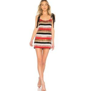 NWT NBD Suri Dress in Red Champage Size Small